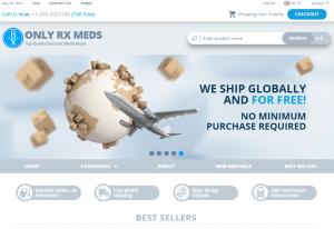 Onlyrxmeds.com Main Page