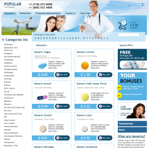 Home Page of Popular-Pills.com