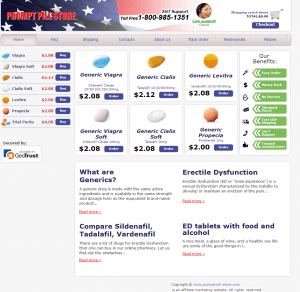 Home Page of Prompt-Pill-Store.com