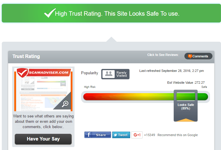 Prompt-Pill-Store.com Trust Rating by Scamadviser