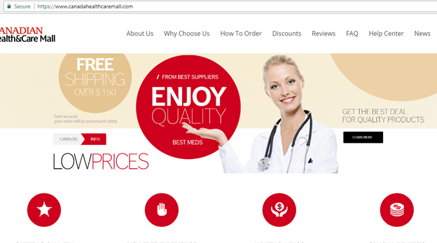 One of Canadian Health and Care Mall Domains (canadahealthcaremall.com)
